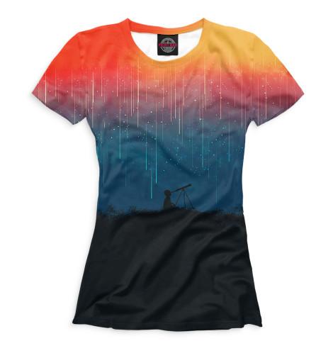 Женская футболка Звездопад