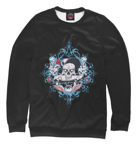 Свитшот Print Bar Skate Skulls кенгуру picture organic basement skate black