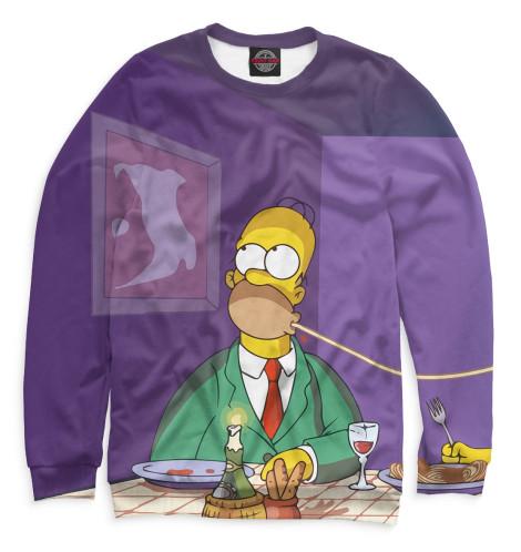 Мужской свитшот Гомер и Мардж