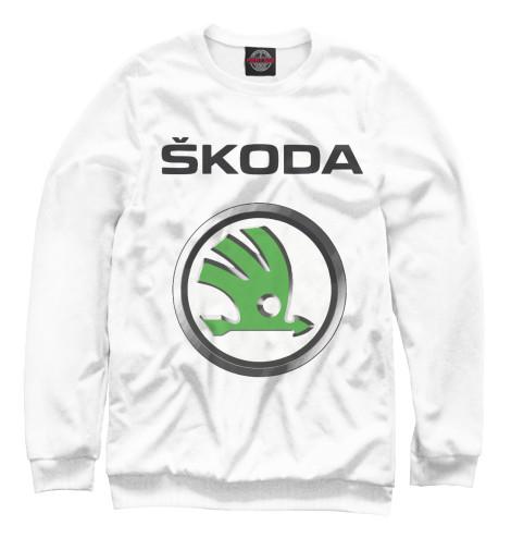 Фото - Мужской свитшот Skoda от Print Bar белого цвета