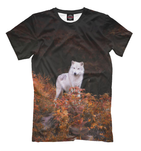 Футболка Print Bar Белый Волк футболка print bar волк тотем