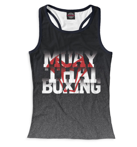 Майка борцовка Print Bar Muay Thai Boxing свитшот print bar muay thai boxing