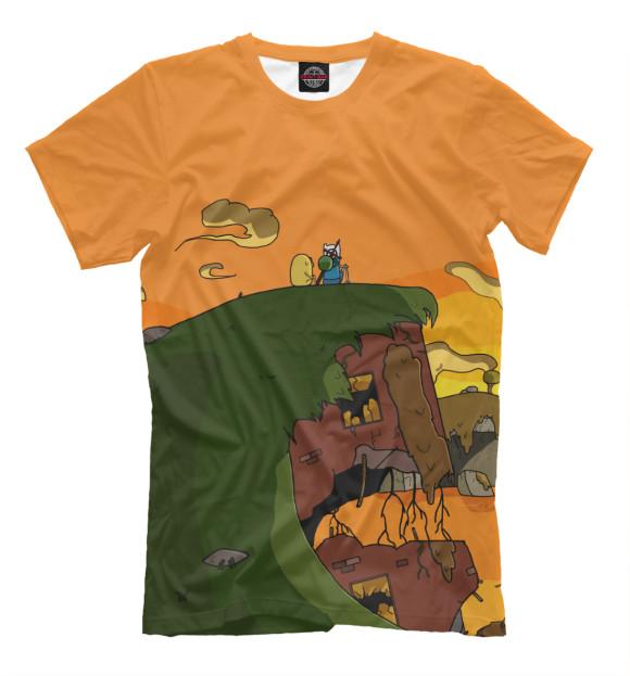 Купить Мужская футболка Финн и Джейк на холме ADV-582001-fut-2