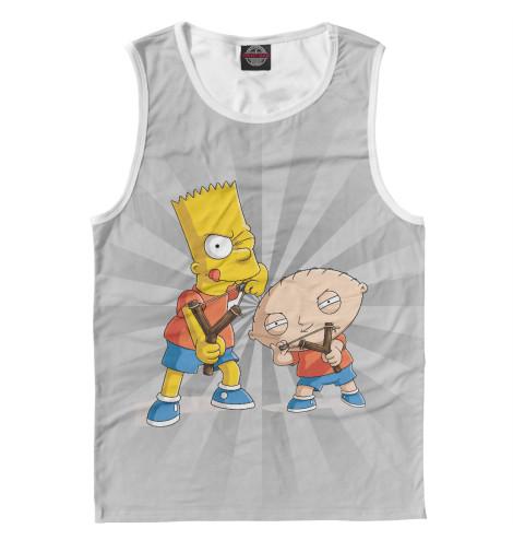 Майка Print Bar Stewie and Bart футболка print bar stewie and bart