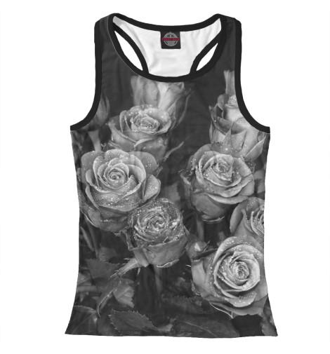 Майка борцовка Print Bar Черно-белые розы