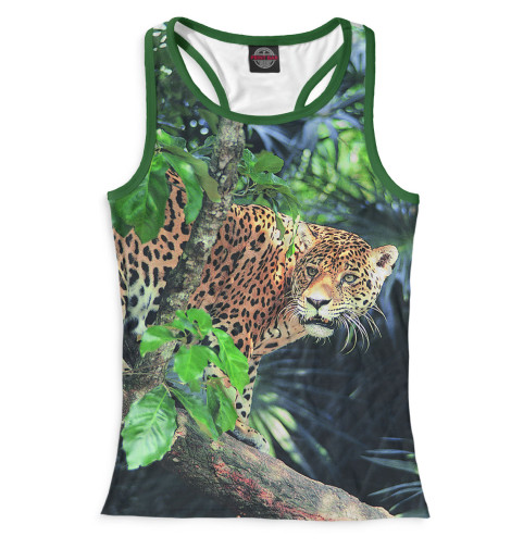 Женская майка-борцовка Леопард