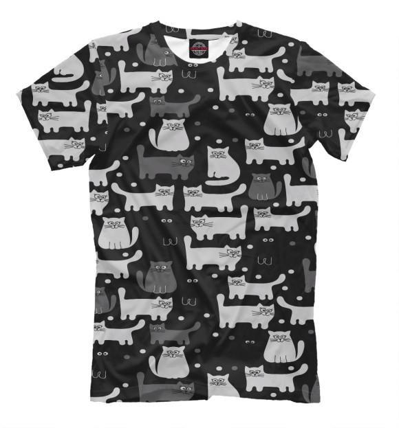 Купить Мужская футболка Коты CAT-333960-fut-2