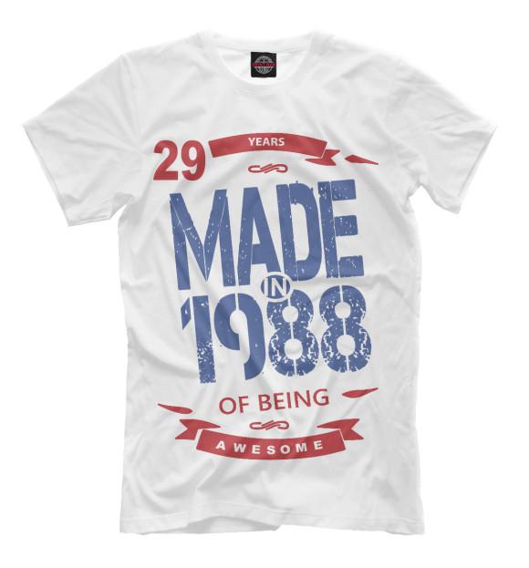 Купить Мужская футболка Рожденный в 1988 DVV-723201-fut-2