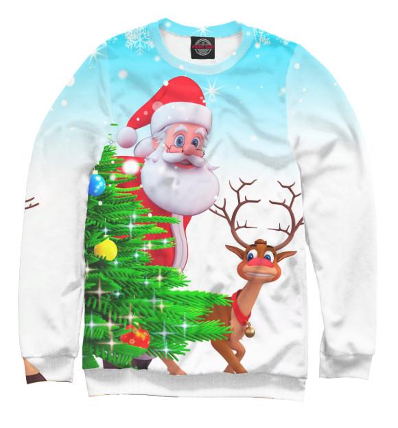 Купить Мужской свитшот Дед Мороз и Олень NOV-590105-swi-2