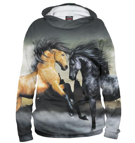 Мужское худи Лошади