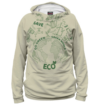Женское Худи Go Green Green World Eco