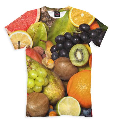 Мужская футболка Фрукты и ягоды