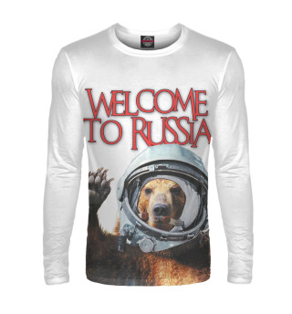Мужской лонгслив Welcome to Russia