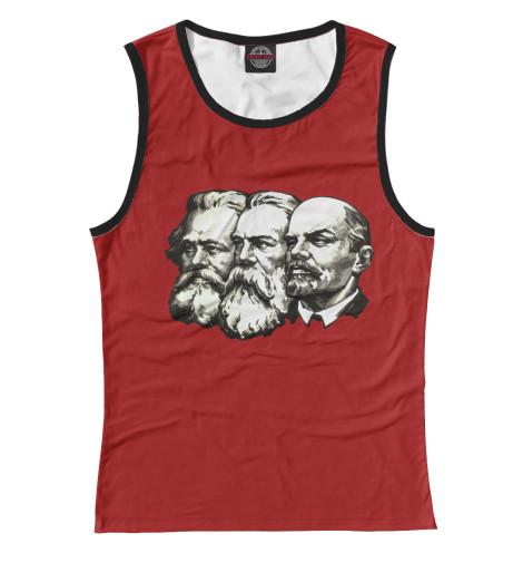 Майка Print Bar Маркс,Энгельс,Ленин
