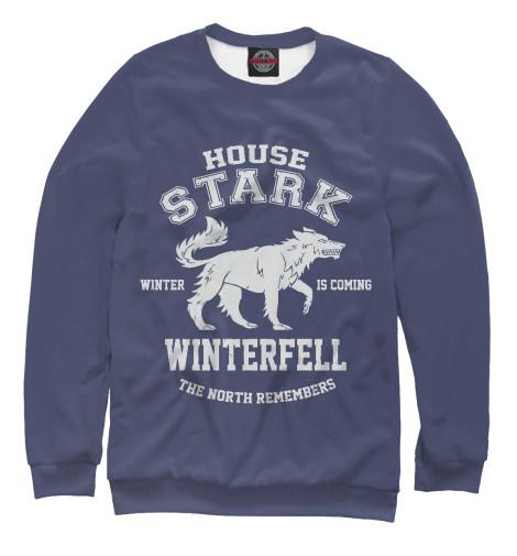 Фото - Женский свитшот Winterfell от Print Bar белого цвета