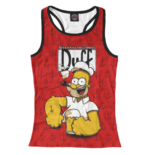 Купить Женская майка-борцовка Duff Beer SIM-233754-mayb-1