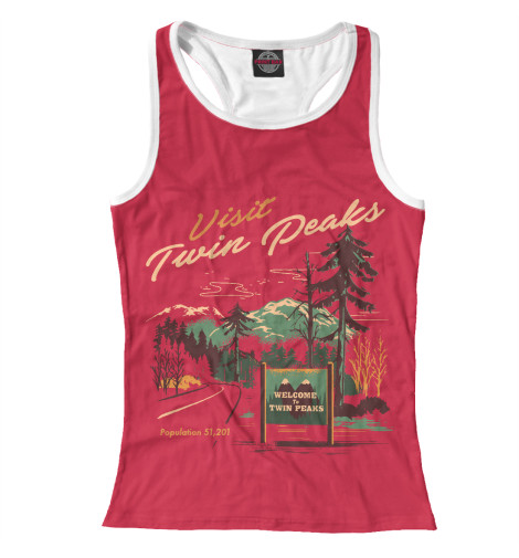 Майка борцовка Print Bar Visit Twin Peaks майка борцовка print bar damn good twin peaks