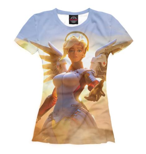 Фото - Женская футболка Ангел от Print Bar белого цвета