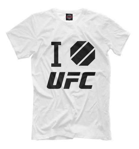 Фото - Мужская футболка I love UFC от Print Bar белого цвета