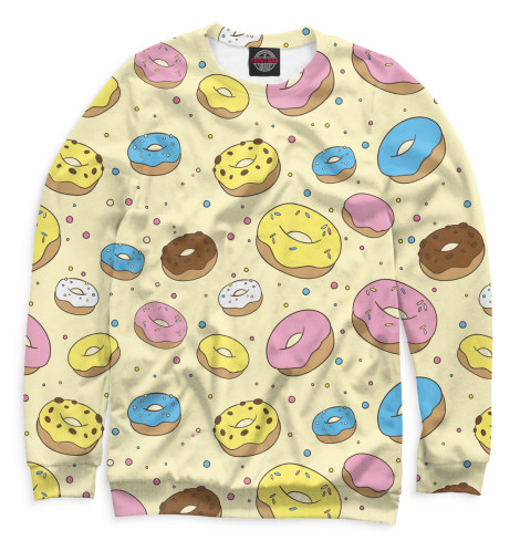 Женский свитшот Пончики