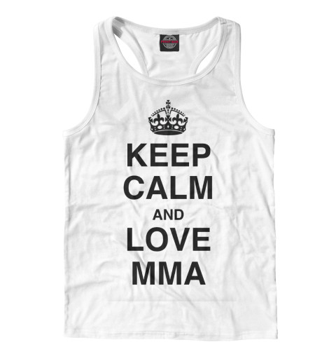 Майка борцовка Print Bar Keep Calm And Love MMA футболка wearcraft premium printio keep calm and manezhka green