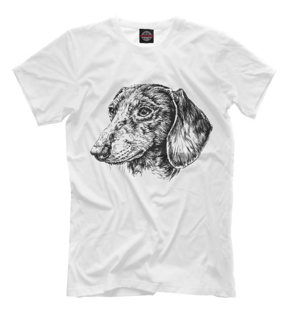 Купить Мужская футболка Такса DOG-631745-fut-2
