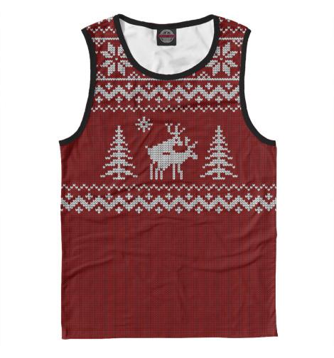 Майка Print Bar Неприличные Олени свитер олени уси пуси свитер олени