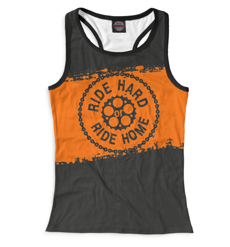 Майка борцовка Print Bar Ride Hard or Ride Home худи print bar ride hard or ride home
