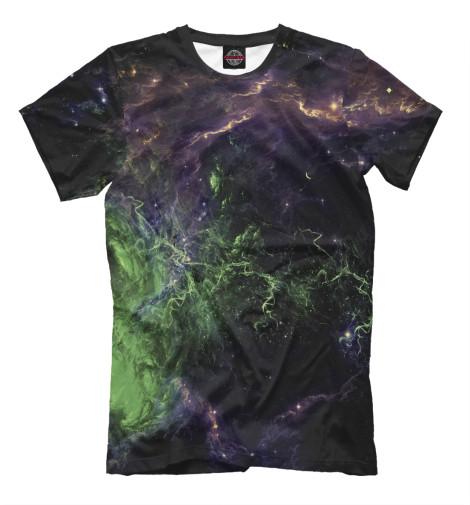 Фото - Мужская футболка Космос от Print Bar белого цвета