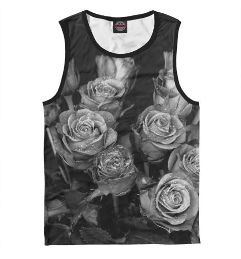 Майка Print Bar Черно-белые розы alpina granby s qmm black matt qmm red sph s2