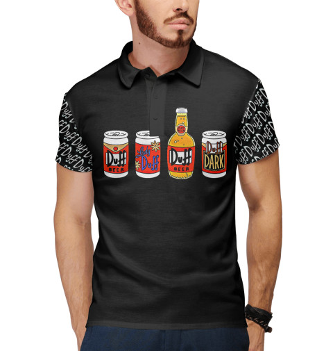 Поло Print Bar Duff Beer