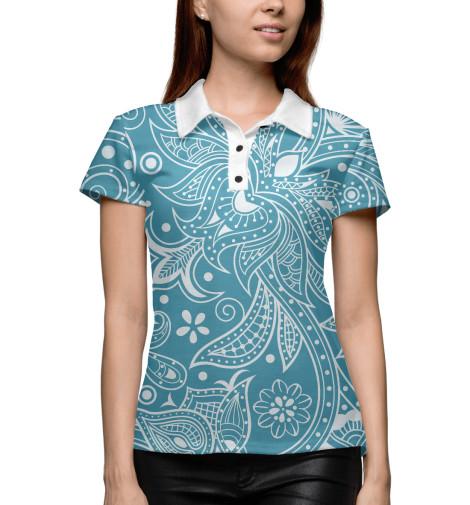 Купить Поло для девочки Цветочный орнамент NOV-292429-pol-1