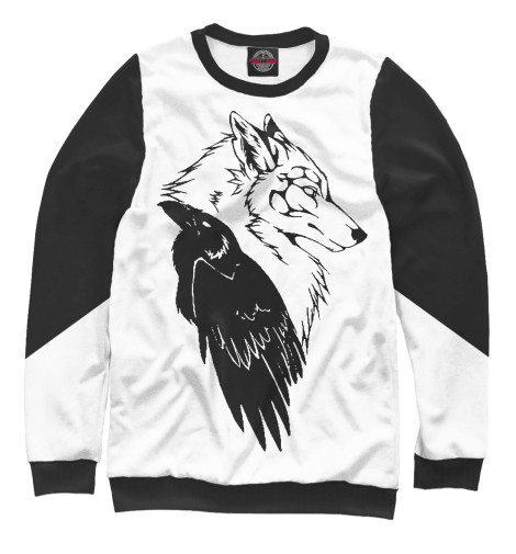 Свитшот Print Bar Wolf & Raven худи print bar native wolf