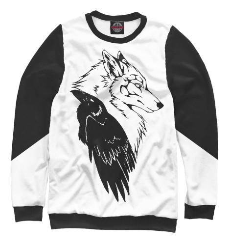 Свитшот Print Bar Wolf & Raven свитшот print bar джой