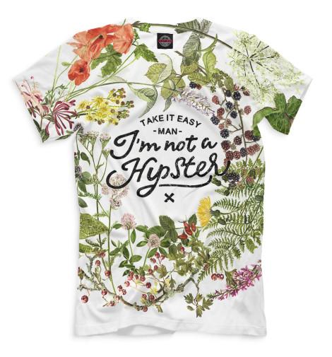 Мужская футболка I'm not a hipster