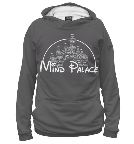 Худи Print Bar Mind Palace джун томсон трубка шерлока холмса