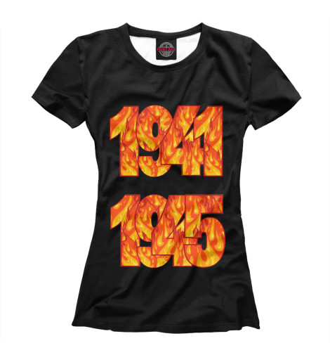 Фото - Женская футболка 9 мая от Print Bar белого цвета
