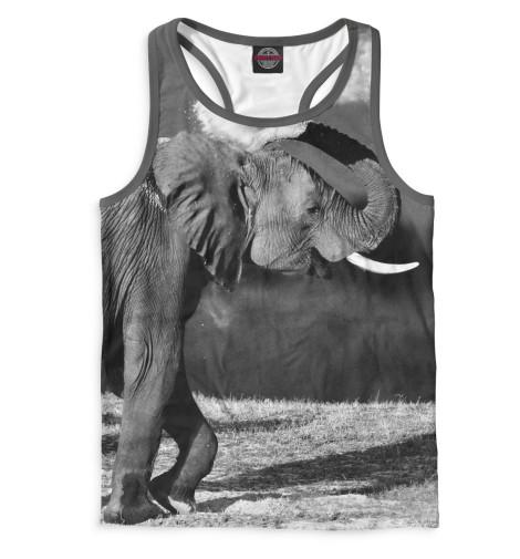 Мужская майка-борцовка Слоны