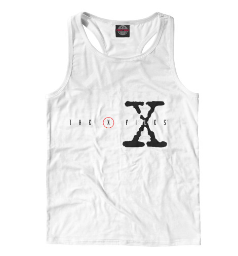 Майка борцовка Print Bar The X-Files logo fidelity files the