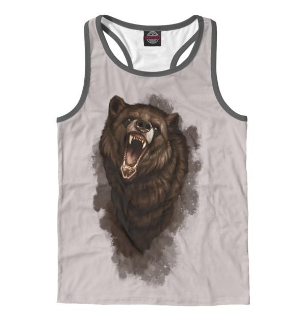 Купить Мужская майка-борцовка Бурый медведь MED-521009-mayb-2
