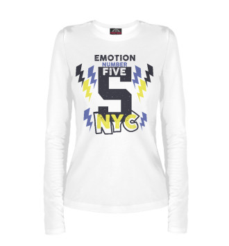 Женский Лонгслив Emotion number five NYC 5